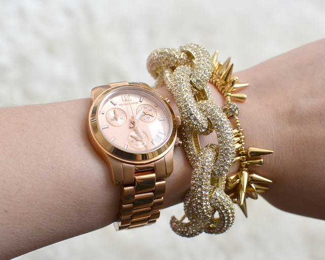 gold arm candy crystal pave bracelet