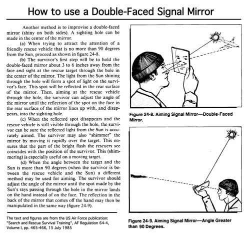 How to use a Double-Faced Signal Mirror