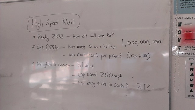 We've been doing some maths in tutor time based on numbers in the news this morning