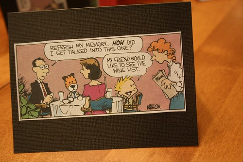 The Calvin & Hobbes invite - family - outside