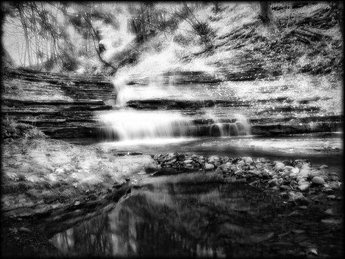 blackandwhite nature landscape waterfalls newyorkstate infared