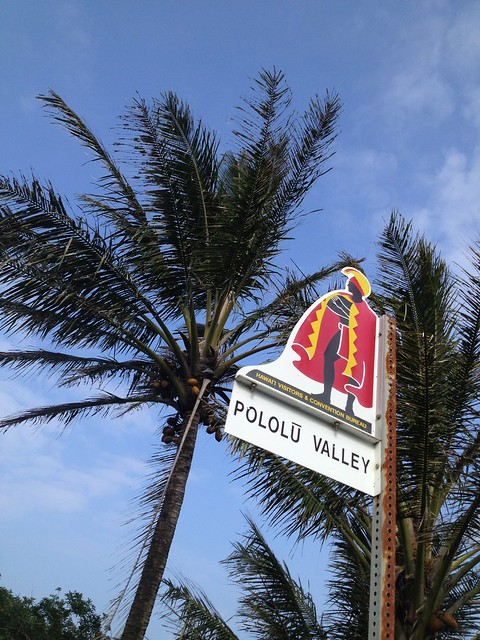 Pololu Valley sign