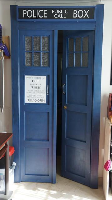 tardis bedroom doors flickr photo sharing