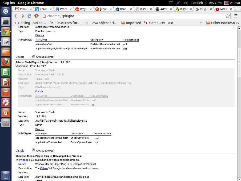 install application x shockwave flash ubuntu install
