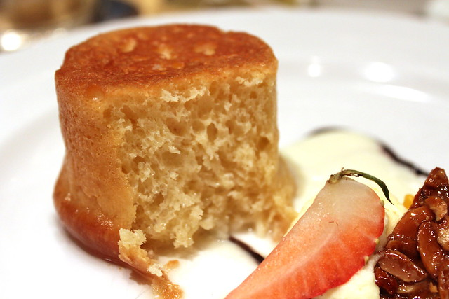 Baba au Rhum baked yeast cake soaked in dark rum innards