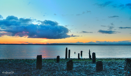 seattle sunset afternoon pugetsound lowtide pnw nikon1j1