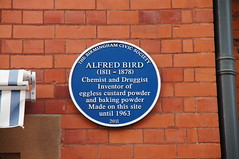 Photo of Alfred Bird blue plaque