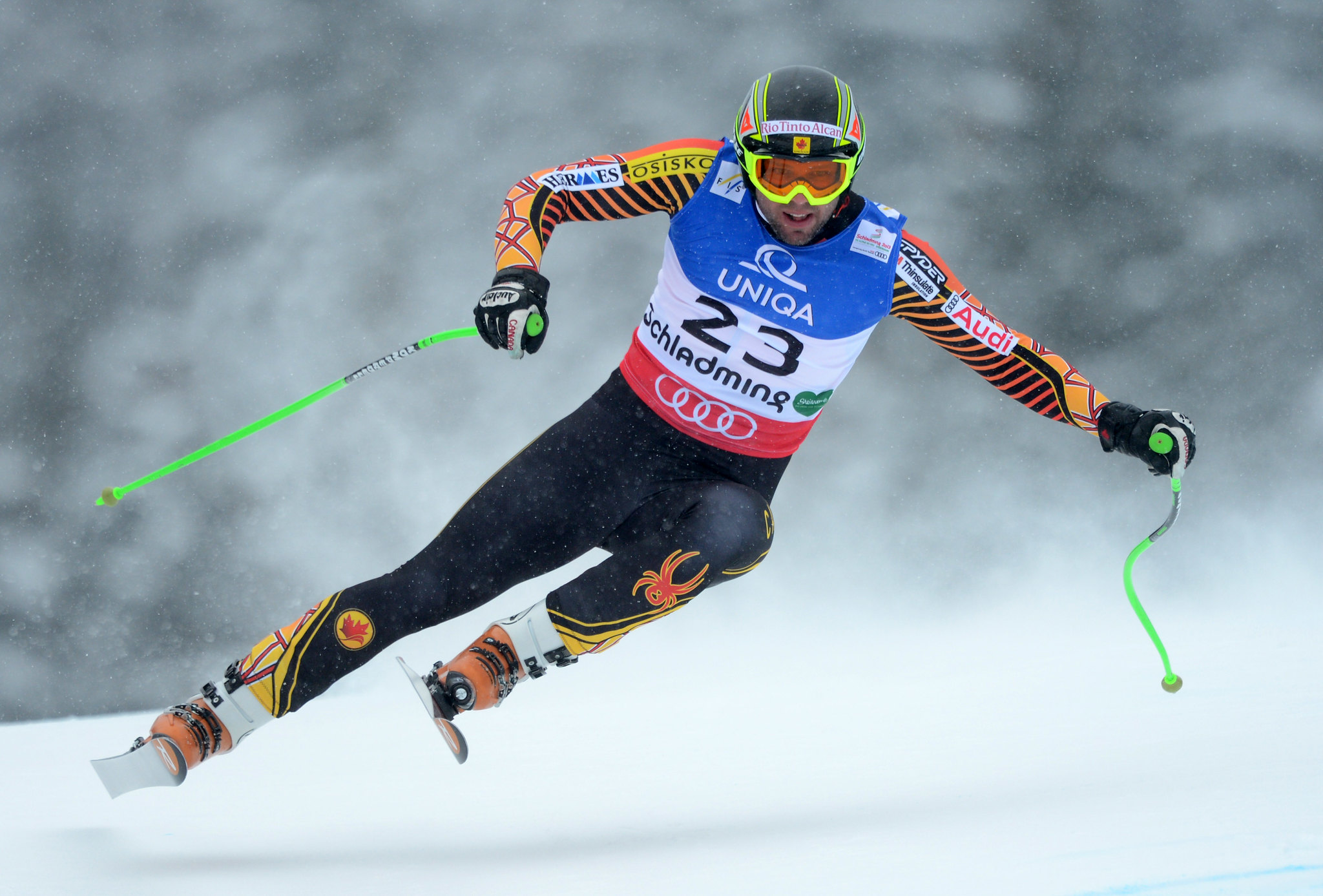 Manuel Osborne-Paradis in action at the world championships in Schladming, Austria.