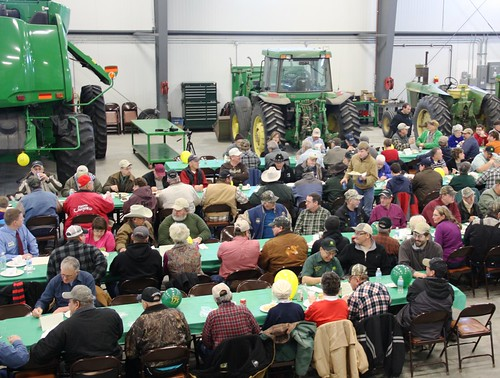 Over 250 people gathered to celebrate the Green Iron Equipment grand opening in Ashley, North Dakota.