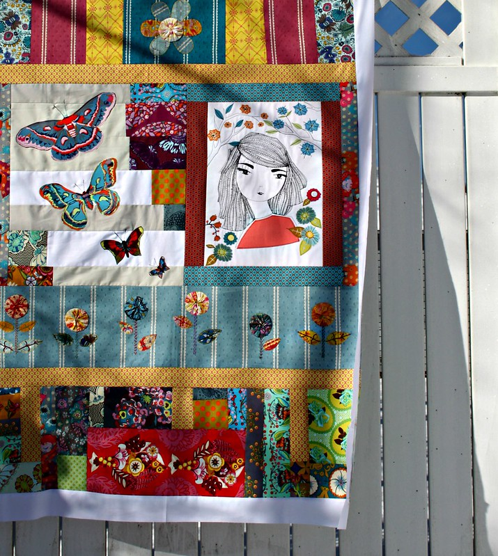 An Applique Art Quilt Top