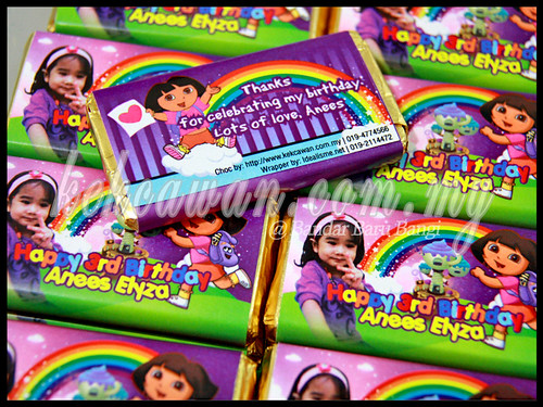 Dora the Explorer - Personalised Choc Bar