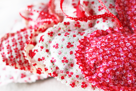 Valentines fabric heart