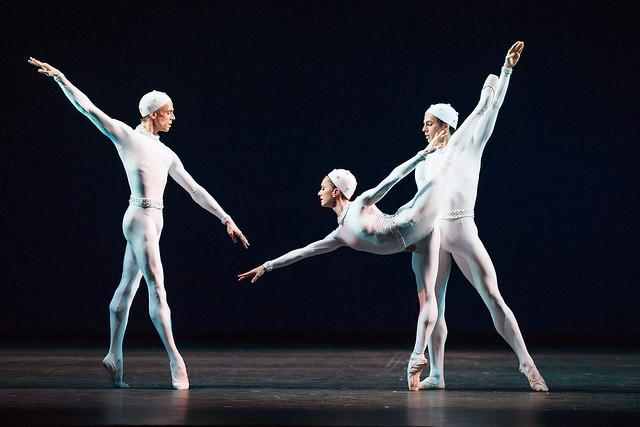 Edward Watson, Marianela Nunez and Federico Bonelli in Monotones II © ROH/Tristram Kenton, 2013