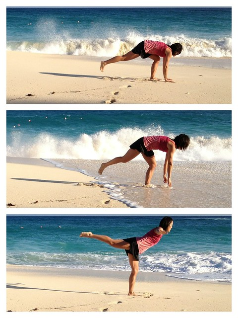 Attempted Yoga on the Beach