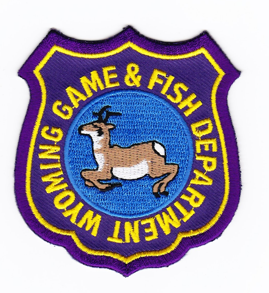 Wy wyoming game and fish game warden patch for for Wyoming fish and game
