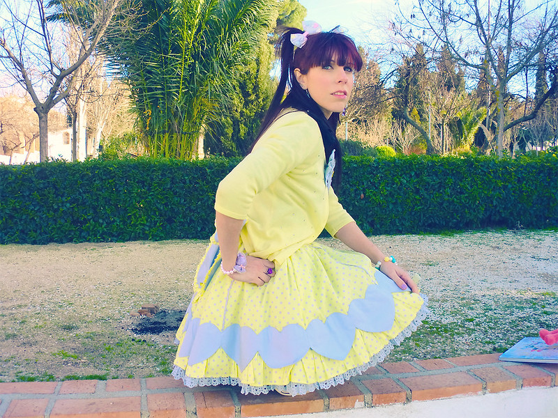 Angelic Pretty Colourful Hearts Skirt