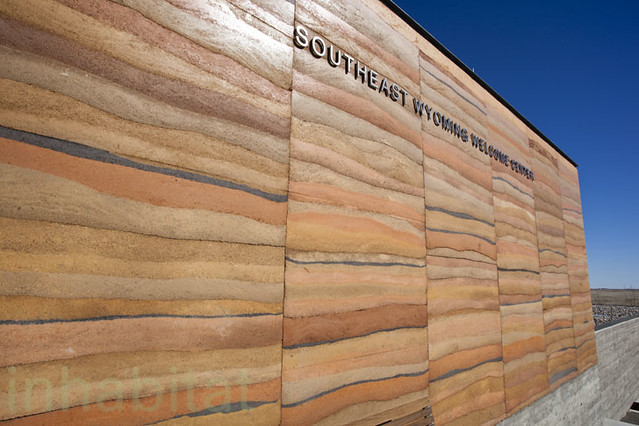 Rammed Earth Southeast Wyoming Welcome Center The New