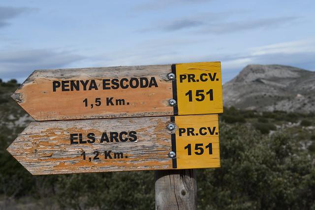 006 - Señalización ruta els arcs PR CV 151