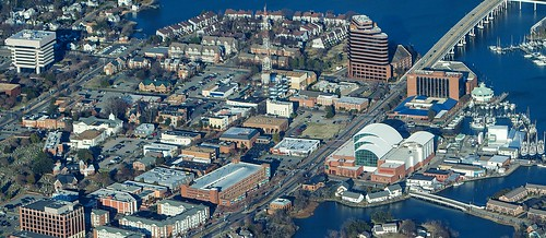 virginia downtown view hampton arial