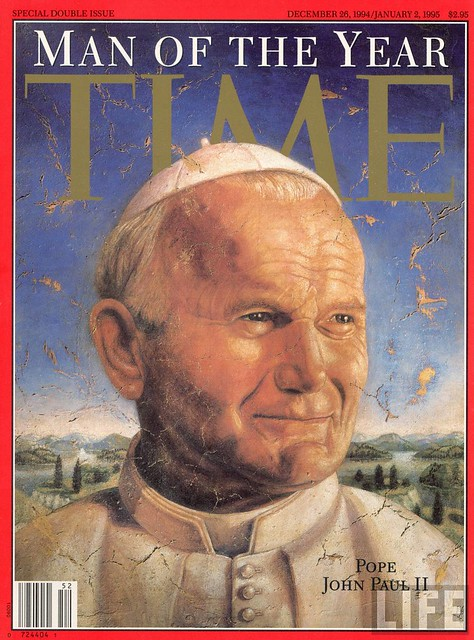 TIME cover Dec 26-1994 of Pope John Paul II. TIME's Man of the Year.