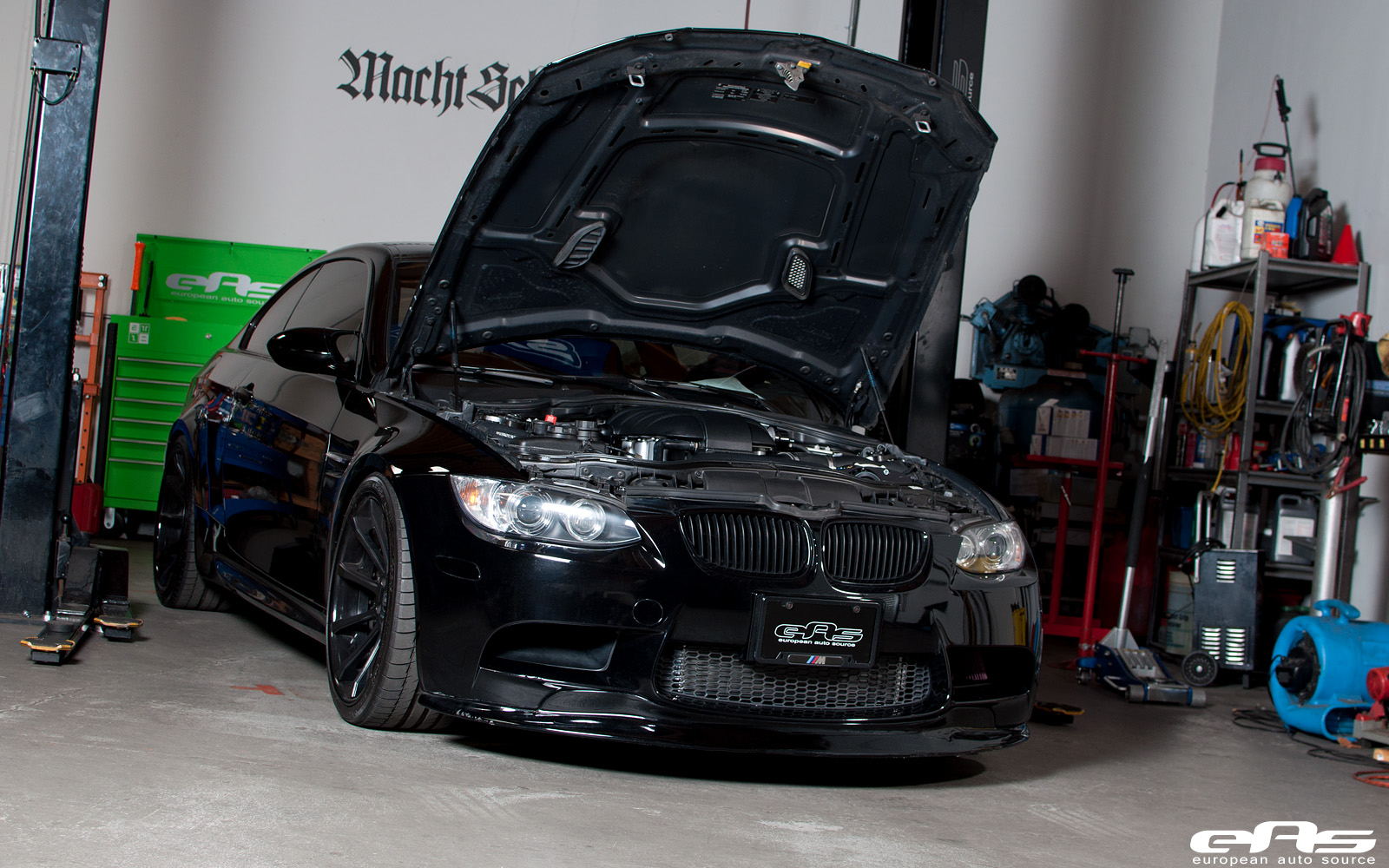 Black ESS Supercharged E92 M3 in the Garage by eas