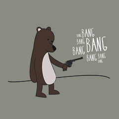 Bear with a gun