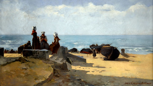Louis-Robert Carrier-Belleuse - Scene on the Brittany Coast at the Legion of Honor (Fine Arts Museums of San Francisco CA)