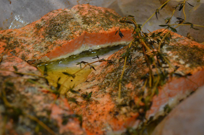 finished salmon in parchment