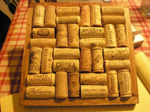 Make a DIY cork trivet or hot plate from old photo frames