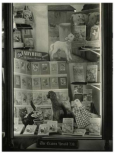 Ladybird books 1950s window display