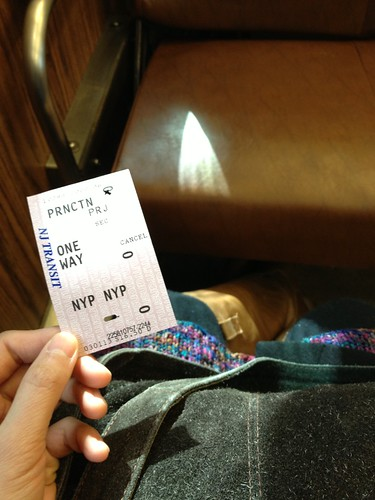 Mar.01.2013 in the Dinky (shuttle train) to Princeton Junction. Off to visit NY.