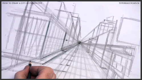 learn how to draw city buildings in perspective 010