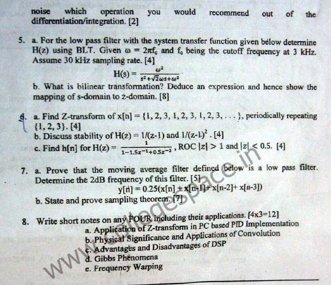 NSIT Question Papers 2012 – 8 Semester - End Sem - IC-413