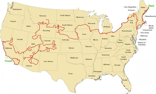 Garys USA Road Trip Map