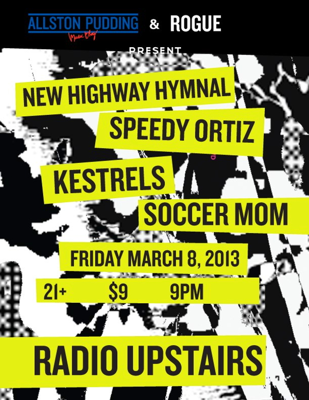 The New Highway Hymnal with Speedy Ortiz, Kestrels and Soccer Mom at Radio, March 8, 2013