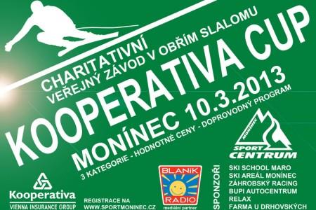 Monínec Kooperativa Cup 2013 - charitativní veřejný závod v obřím slalomu