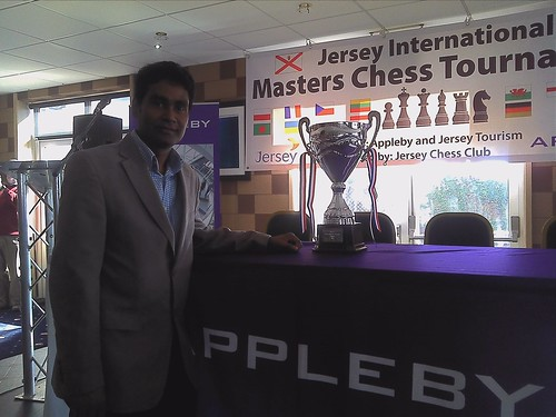 Jersey Organiser Tito Kahn, with Trophy by JustABoy