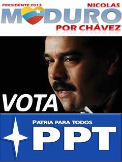 Arte de campaña presidencial de Nicolás Maduro