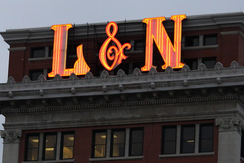 Louisville and Nashville Railroad Office Building Neon Sign