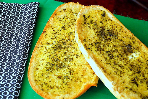 Four Leaf Clover-Kissed Garlic Herb Bread