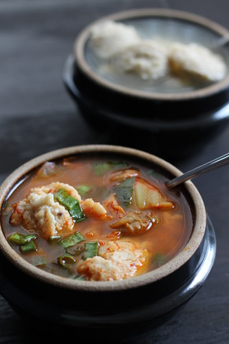 Kimchi Matzoh Ball Soup for Passover