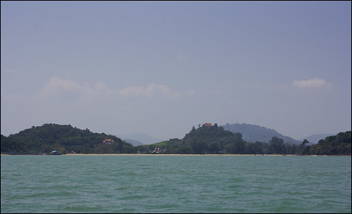 Koh Sirey from the sea