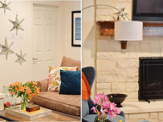 den & fireplace