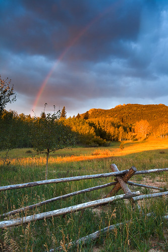 morning blue autumn orange storm mountains green sunrise rainbow colorado unitedstates fences rockymountains blackhawk goldengatecanyonstatepark