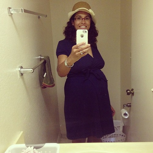 #wiws dress: Lands End hat: homecoming trunk show #obligatorybathroomshot