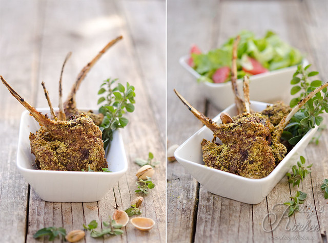 agnello in crosta di pistacchi