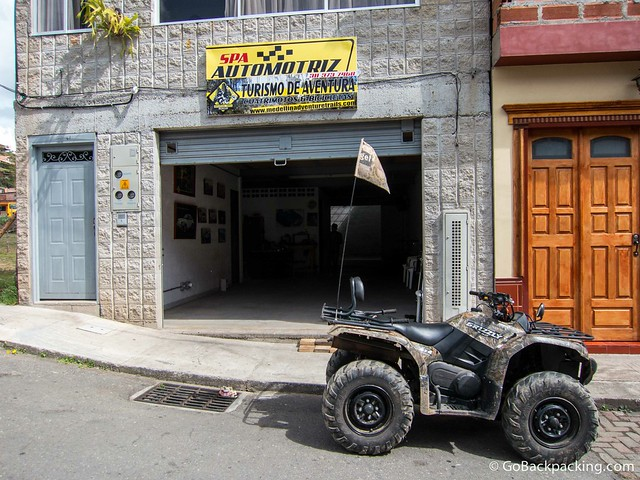 Outside the office of Adventure Trails in Guarne