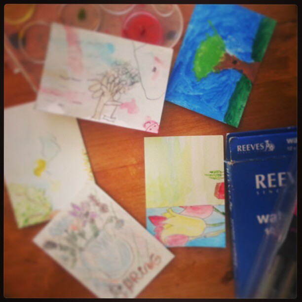 Spring Art Card Trade.  Want to join in with your kiddos? Check out tomorrow's blog post.