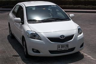 Ma voiture de location, une TOYOTA Yaris