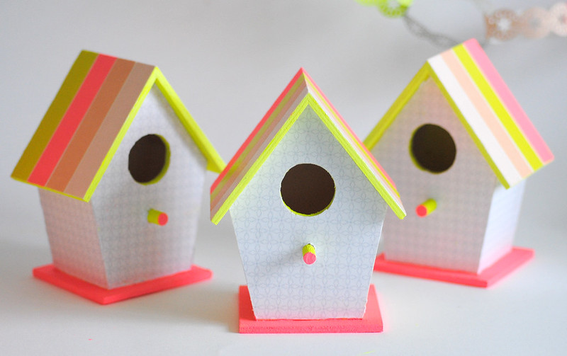 Pretty Neon bird houses
